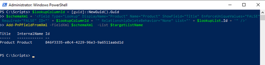 How to: Provision Lookup Columns and Projected Fields using PnP PowerShell