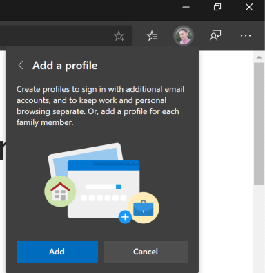 Managing multiple identities with the new Edgebrowser